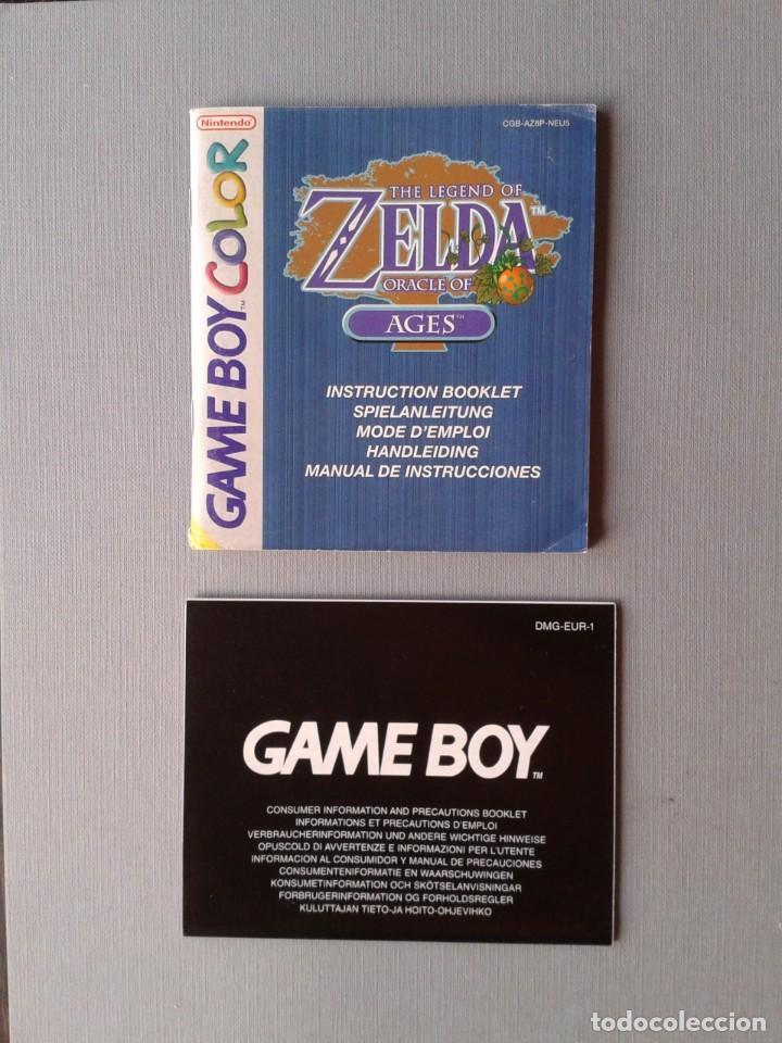 Videojuegos y Consolas: GAMEBOY COLOR GBC LEGEND OF ZELDA ORACLE AGES COMPLETO CAJA MANUAL BOXED CIB PAL R11043 - Foto 3 - 205801475