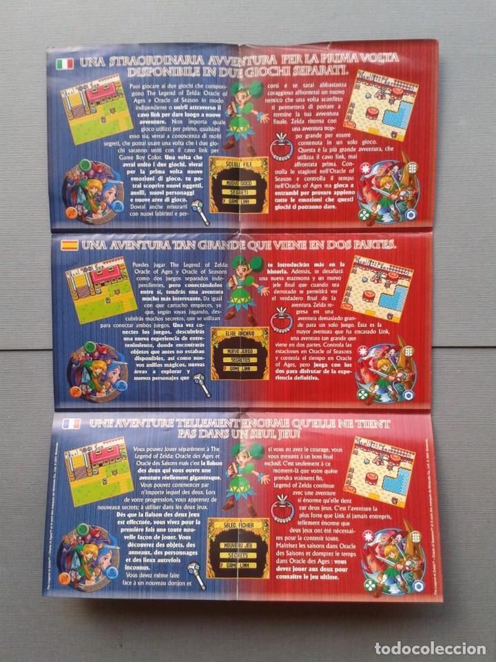 Videojuegos y Consolas: GAMEBOY COLOR GBC LEGEND OF ZELDA ORACLE AGES COMPLETO CAJA MANUAL BOXED CIB PAL R11043 - Foto 4 - 205801475