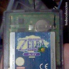 Videojuegos y Consolas: ZELDA ORACLE AGES GBC GAMEBOY COLOR BOY SOLO CARTUCHO FUNCIONANDO. Lote 206464973