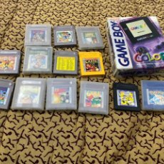 Videojuegos y Consolas: LOTE CONSOLA GAME BOY COLOR EN SU CAJA ORIGINAL MÁS 12 JUEGOS. Lote 209978925
