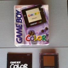 Videojuegos y Consolas: NINTENDO GAME BOY COLOR MORADA TRANSPARENTE CGB-001 COMPLETA CAJA CIB BOXED PAL R11144. Lote 210095807