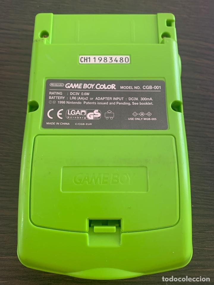 Videojuegos y Consolas: Consola de 1998 Game Boy color de Nintendo verde funcionando gameboy - Foto 2 - 210443033