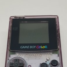 Videojuegos y Consolas: CONSOLA GAME BOY COLOR ATOMIC PURPLE TRANSPARENTE MORADA PERFECTO FUNCIONAMIENTO. Lote 214297642