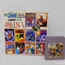 Videojuegos y Consolas: M69 JUEGO 108 IN 1 PARA NINTENDO GAME BOY COLOR ADVANCE (VER DESCRIPCIÓN). Lote 215047761