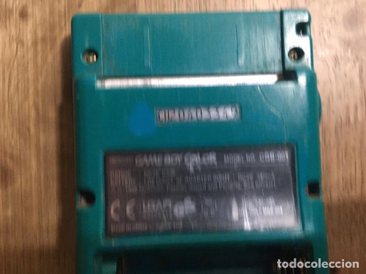 Videojuegos y Consolas: CONSOLA GAME BOY COLOR AZUL TURQUESA - Foto 8 - 218662071