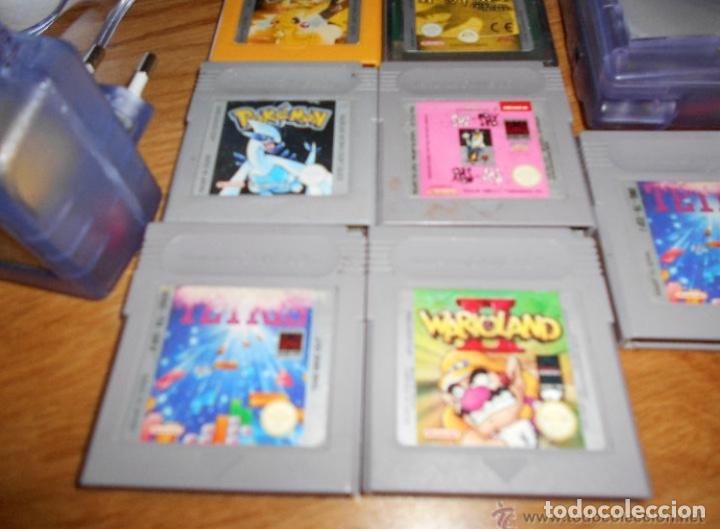 Videojuegos y Consolas: Consola Game Boy Color transparente + 7 cartuchos + HARRY POTTER ACCESORIO Mario Land etc - Foto 3 - 223394707