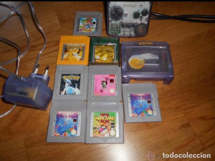 Videojuegos y Consolas: Consola Game Boy Color transparente + 7 cartuchos + HARRY POTTER ACCESORIO Mario Land etc - Foto 5 - 223394707