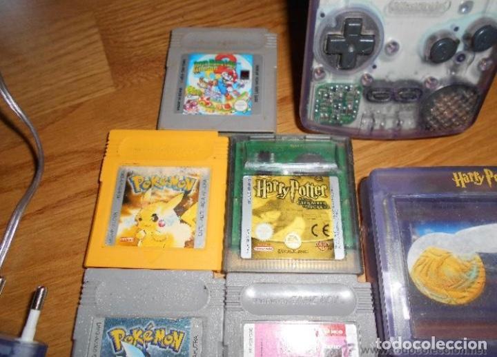 Videojuegos y Consolas: Consola Game Boy Color transparente + 7 cartuchos + HARRY POTTER ACCESORIO Mario Land etc - Foto 6 - 223394707