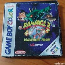 Videojuegos y Consolas: RAMPAGE UNIVERSAL TOUR NINTENDO GAME BOY COLOR COMPLETO. Lote 227197535
