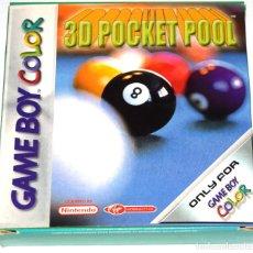 Videojuegos y Consolas: JUEGO GAMEBOY COLOR 3D POCKET POOL NUEVO PAL ESPAÑA. Lote 229715440
