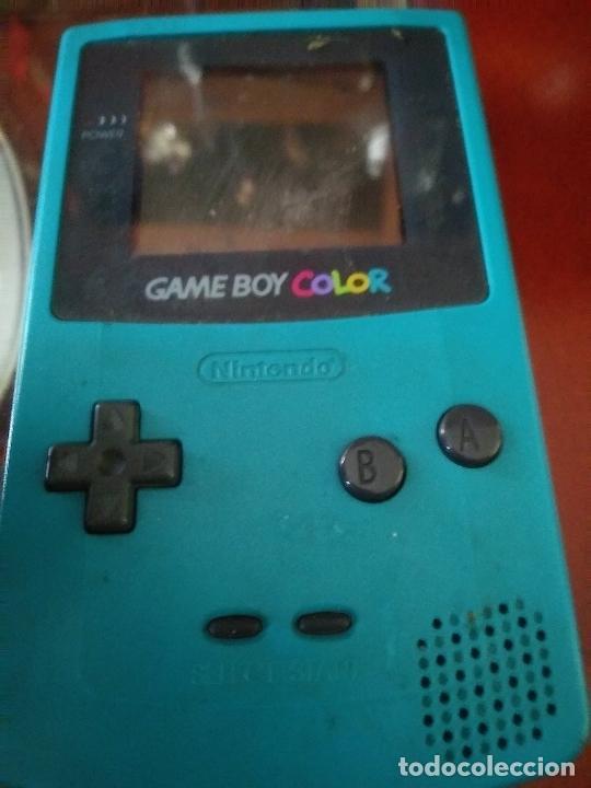 Videojuegos y Consolas: Game boy color verde turquesa funcionando - Foto 2 - 231005185
