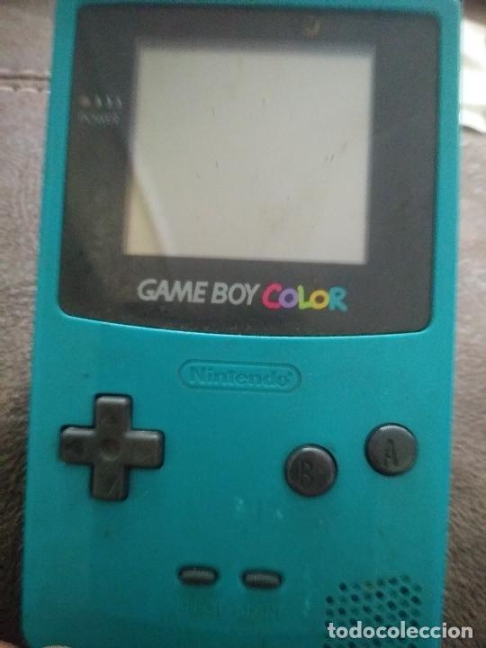 Videojuegos y Consolas: Game boy color verde turquesa funcionando - Foto 4 - 231005185