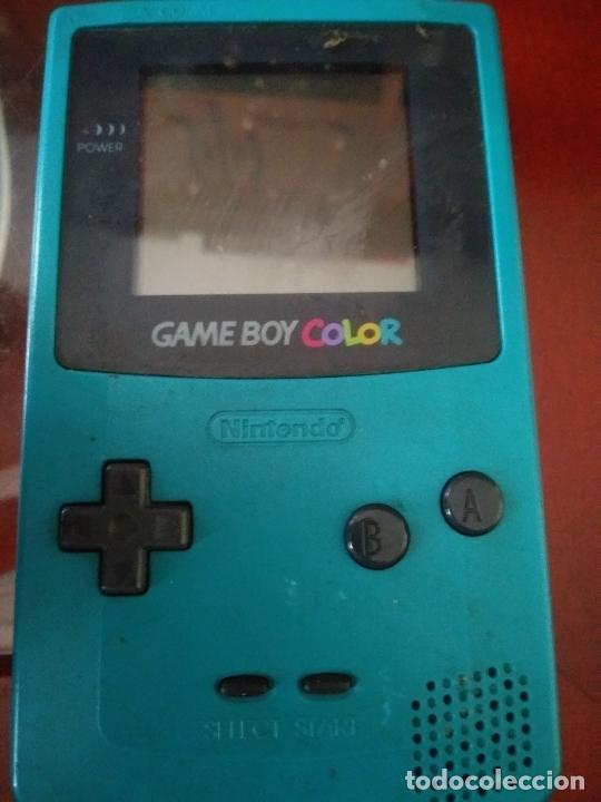 GAME BOY COLOR VERDE TURQUESA FUNCIONANDO (Juguetes - Videojuegos y Consolas - Nintendo - GameBoy Color)