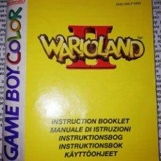 Videojuegos y Consolas: MANUAL DE INSTRUCCIONES WARIO LAND II - GAME BOY COLOR (NO ESTÁ EN ESPAÑOL, VARIOS IDIOMAS). Lote 231872415