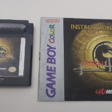 Videojuegos y Consolas: MORTAL KOMBAT 4 GAMEBOY NINTENDO GAME BOY COLOR USA. Lote 235322365
