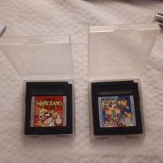 Videojuegos y Consolas: JUEGOS GAMEBOY COLOR: WARIOLAND + GAME & WATCH GALLERY 2 (SE ENTREGAN AMBOS CON FUNDA). Lote 235564030