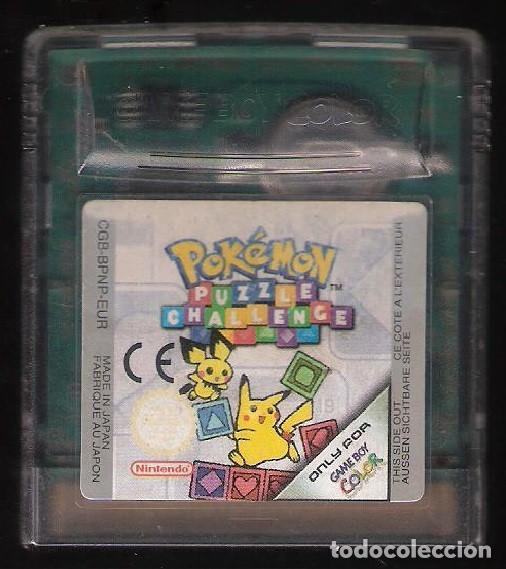 VIDEOJUEGO CARTUCHO NINTENDO GAMEBOY GAME BOY GB COLOR GBC POKEMON PUZZLE CHALLENGE (Juguetes - Videojuegos y Consolas - Nintendo - GameBoy Color)