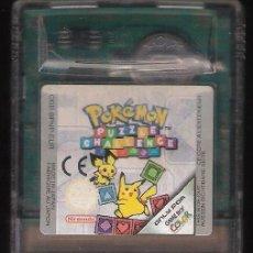 Videojuegos y Consolas: VIDEOJUEGO CARTUCHO NINTENDO GAMEBOY GAME BOY GB COLOR GBC POKEMON PUZZLE CHALLENGE. Lote 235613235