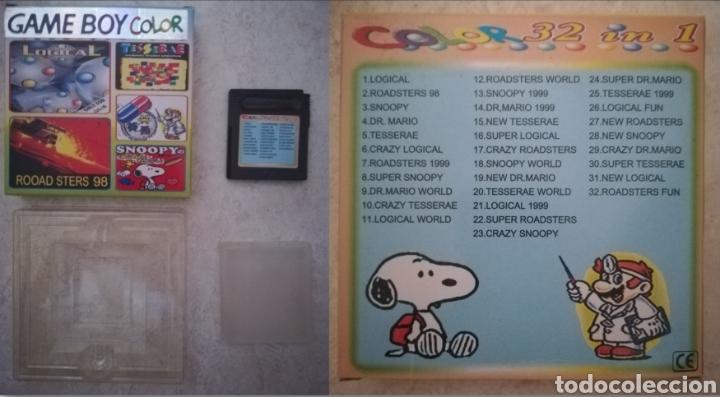 CARTUCHO 32 EN 1 NUEVO NINTENDO GAME BOY (LOGICAL - ROADSTERS 98 - SNOOPY - DR. MARIO - TESSERAE) (Juguetes - Videojuegos y Consolas - Nintendo - GameBoy Color)