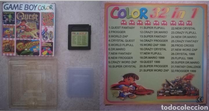 CARTUCHO 32 EN 1 NUEVO NINTENDO GAME BOY (QUEST FANTASY CHALLENGE FROGGER WORLDZAP CRYSTAL QUEST) (Juguetes - Videojuegos y Consolas - Nintendo - GameBoy Color)