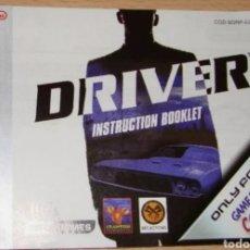 Videojuegos y Consolas: DRIVER MANUAL ORIGINAL ESPAÑOL NINTENDO GAME BOY GAMEBOY COLOR. Lote 235871830