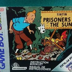 Videojuegos y Consolas: MANUAL INSTRUCCIONES JUEGO TINTIN PRISONERS OF THE SUN - INGLÉS ESPAÑOL GAME BOY COLOR NINTENDO. Lote 236717215