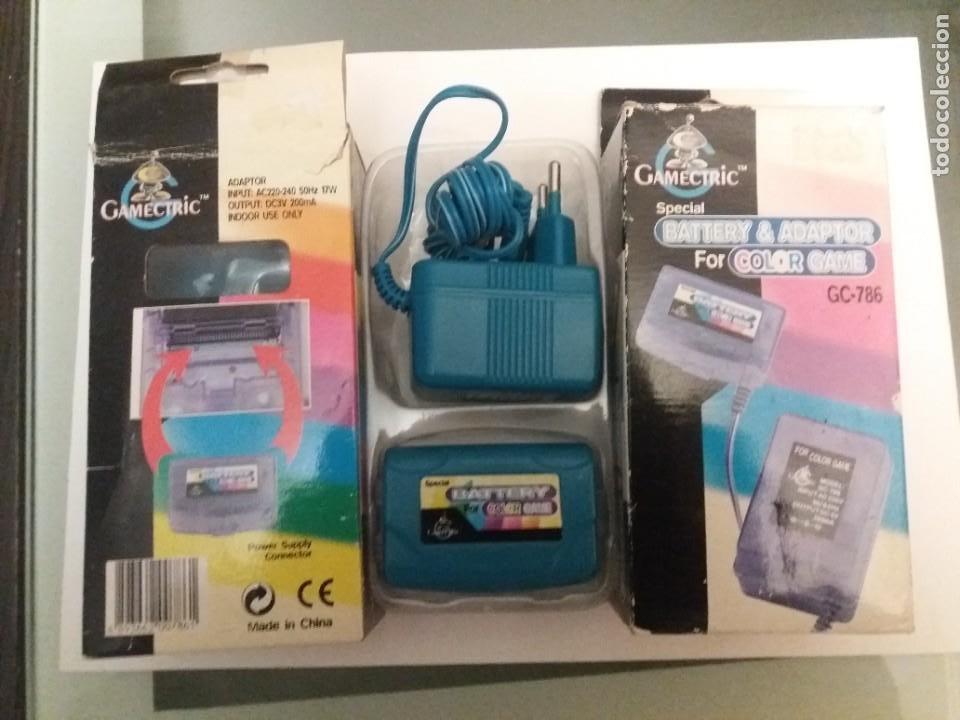 BATERIA Y CARGADOR ESPECIAL PARA CONSOLA GAME COLOR. ADAPTADOR IMPUT AC220-240 50HZ (Juguetes - Videojuegos y Consolas - Nintendo - GameBoy Color)