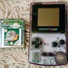 Videojuegos y Consolas: LOTE GAME BOY TRANSPARENTE MÁS 19 JUEGOS MAS EXTRAS. Lote 243544925
