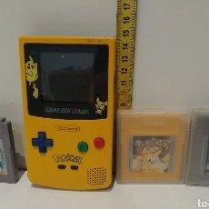 Videojuegos y Consolas: DIFÍCIL CONSOLA GAME BOY EDICION POKEMON CARTUCHOS. Lote 244432395