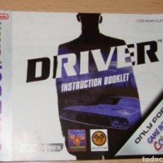 Videojuegos y Consolas: DRIVER MANUAL ORIGINAL ESPAÑOL NINTENDO GAME BOY GAMEBOY COLOR. Lote 252410955