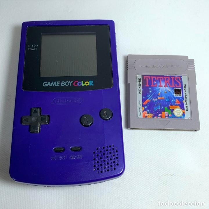 CONSOLA NINTENDO GAME BOY COLOR - LILA + JUEGO TETRIS - FUNCIONA (Juguetes - Videojuegos y Consolas - Nintendo - GameBoy Color)