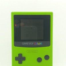 Videojuegos y Consolas: CONSOLA GAMEBOY COLOR VERDE KIWI CGB- 001 + JUEGO NBA JAM 99. Lote 253655100