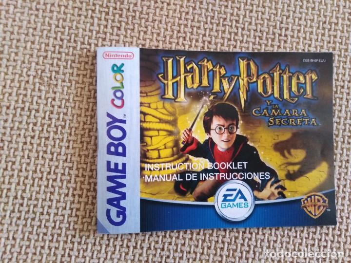 MANUAL DE INSTRUCCIONES HARRY POTTER Y LA CÁMARA SECRETA (Juguetes - Videojuegos y Consolas - Nintendo - GameBoy Color)