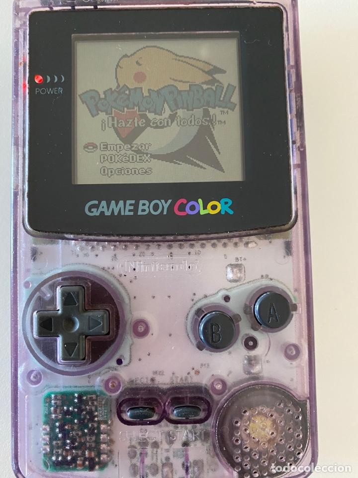 GAME BOY COLOR MORADO TRASPARENTE (Juguetes - Videojuegos y Consolas - Nintendo - GameBoy Color)