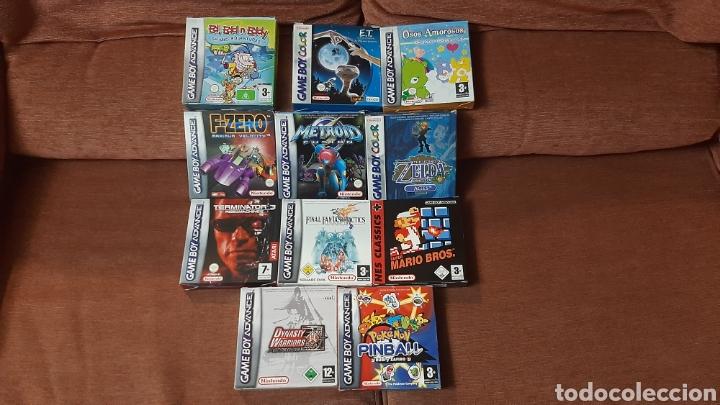 LOTE NINTENDO GAMEBOY GC GCB COLOR ADVANCE JUEGOS ZELDA METROID POKEMON MARIO FZERO FINAL FANTASY (Juguetes - Videojuegos y Consolas - Nintendo - GameBoy Color)