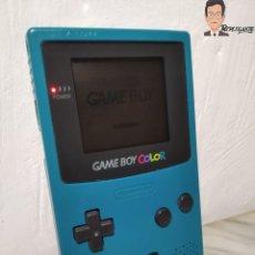 Videojuegos y Consolas: CONSOLA GAME BOY COLOR - VERDE TURQUESA - GAMEBOY NINTENDO - MÁQUINA VIDEOJUEGOS. Lote 261110280