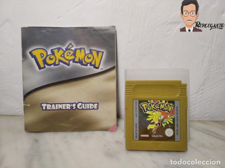POKEMON EDICIÓN ORO JUEGO PARA NINTENDO GAMEBOY (GAME BOY COLOR) CON MANUAL DE REGALO. (Juguetes - Videojuegos y Consolas - Nintendo - GameBoy Color)