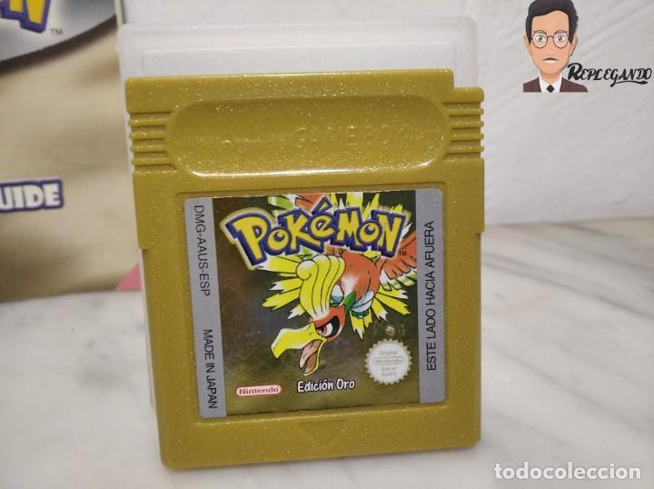 Videojuegos y Consolas: POKEMON EDICIÓN ORO JUEGO PARA NINTENDO GAMEBOY (GAME BOY COLOR) CON MANUAL DE REGALO. - Foto 2 - 261122885