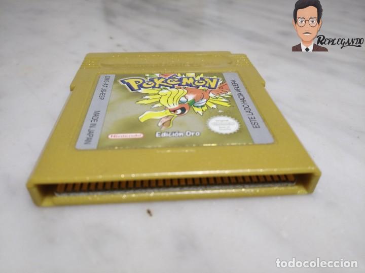 Videojuegos y Consolas: POKEMON EDICIÓN ORO JUEGO PARA NINTENDO GAMEBOY (GAME BOY COLOR) CON MANUAL DE REGALO. - Foto 4 - 261122885