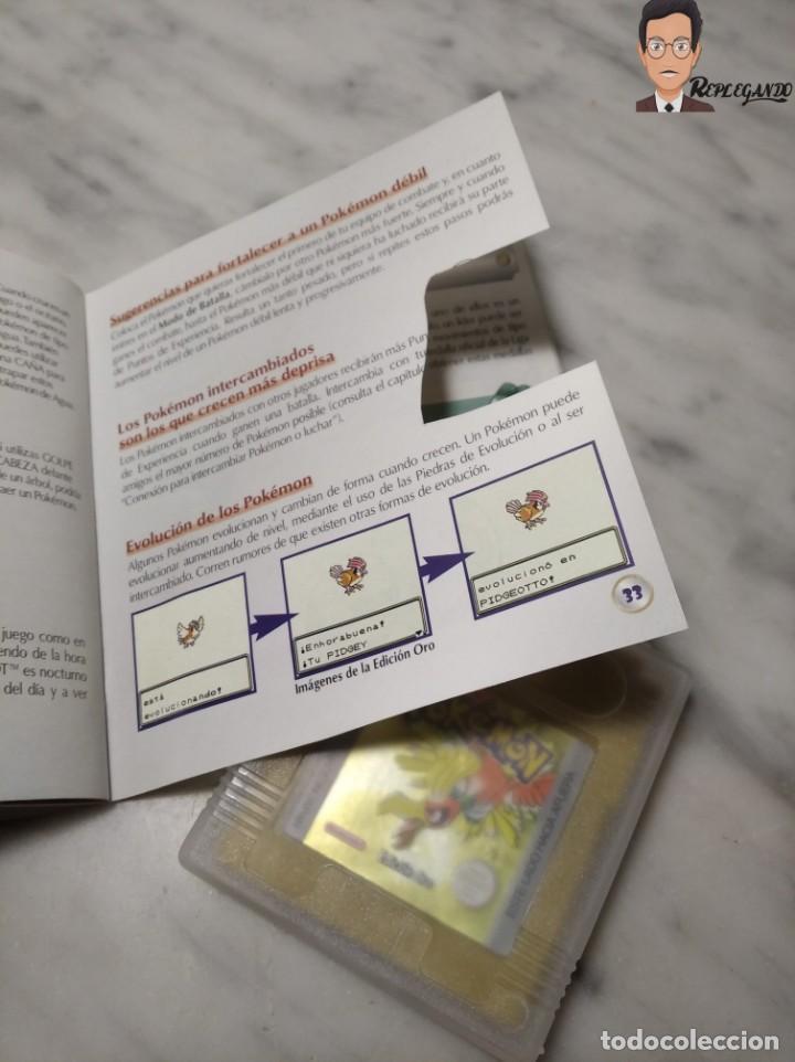 Videojuegos y Consolas: POKEMON EDICIÓN ORO JUEGO PARA NINTENDO GAMEBOY (GAME BOY COLOR) CON MANUAL DE REGALO. - Foto 13 - 261122885