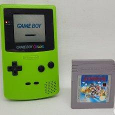 Videojuegos y Consolas: LOTE GAME BOY COLOR VERDE CON SUPER MARIO LAND. NINTENDO. GAMEBOY. NO MEGADRIVE.. Lote 270609543
