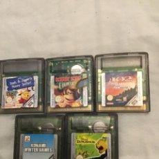 Videojuegos y Consolas: LOTE DE CINCO JUEGOS DE GAME BOY COLOR. Lote 272476623