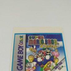 Videojuegos y Consolas: ETIQUETA PEGATINA SUPER MARIO BROS DELUXE NINTENDO GAME BOY GAMEBOY COLOR. Lote 273985118