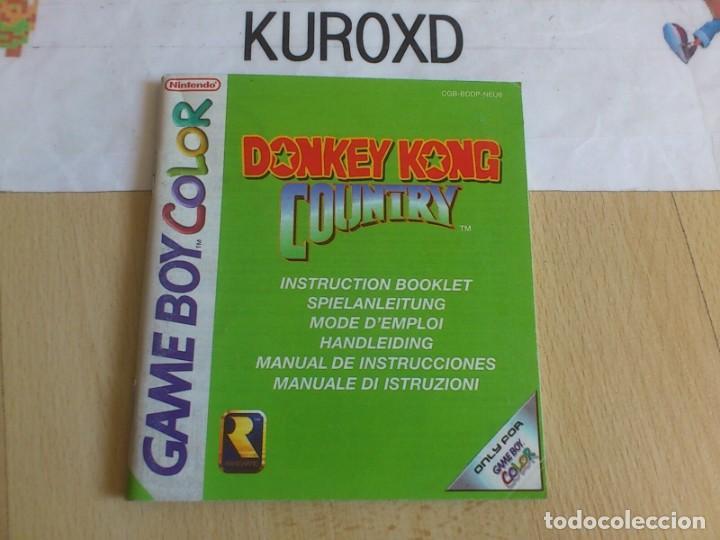 MANUAL NINTENDO GAME BOY COLOR GBC DONKEY KONG COUNTRY PAL EUROPA (Juguetes - Videojuegos y Consolas - Nintendo - GameBoy Color)