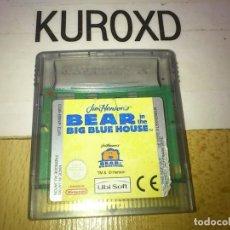 Videojuegos y Consolas: NINTENDO GAME BOY COLOR BEAR IN THE BIG BLUE HOUSE SOLO CARTUCHO. Lote 275595738