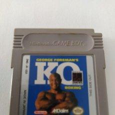 Videojuegos y Consolas: GEORGE FOREMAN KO BOXING GAMEBOY NINTENDO GB ORIGINAL 100%. Lote 277124953