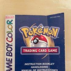 Videojuegos y Consolas: MANUAL DE INSTRUCCIONES - POKEMON TRADING CARD - GAME BOY COLOR - PAL ESPAÑA - ORIGINAL. Lote 280352878