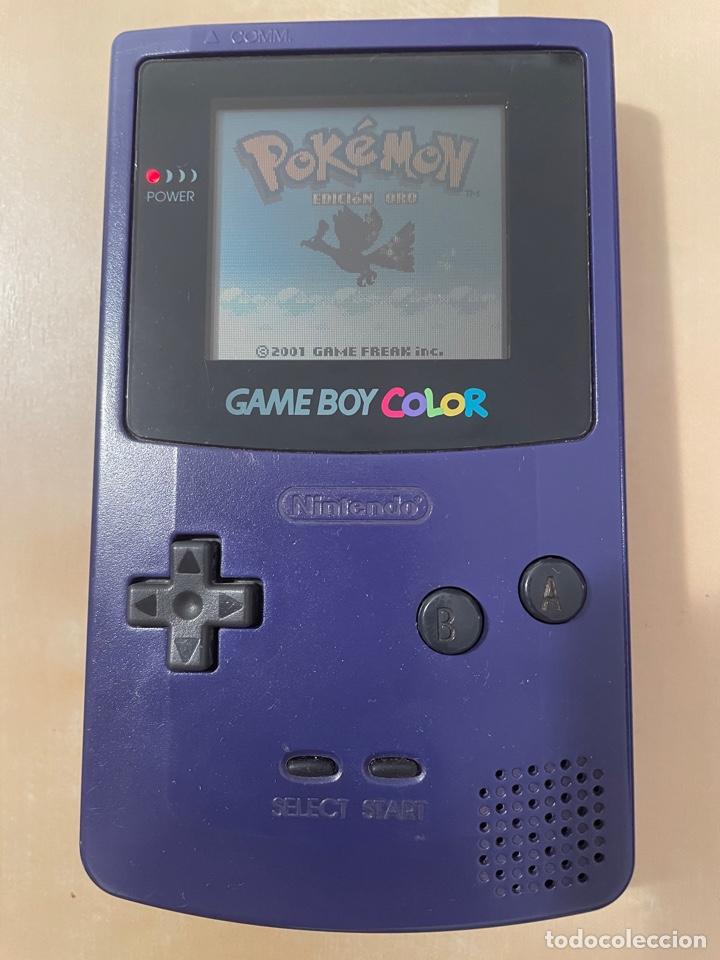 CONSOLA GAME BOY COLOR - PÚRPURA LILA MORADO - ORIGINAL - NINTENDO GAMEBOY (Juguetes - Videojuegos y Consolas - Nintendo - GameBoy Color)
