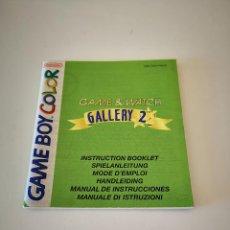 Videojuegos y Consolas: GAME WATCH GALLERY 2 GAME BOY COLOR MANUAL DE INSTRUCCIONES NINTENDO JUEGO CONSOLA. Lote 286874138
