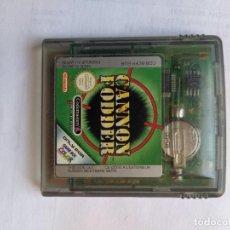 Videojuegos y Consolas: CANNON FODDER GAMEBOY NINTENDO GB ORIGINAL 100%. Lote 286945703